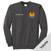 N123 - Sasq Lodge - S4.1-2017 - Emb - PC90Y - Sasquesahanough Lodge Youth Crewneck Sweatshirt
